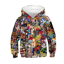 Load image into Gallery viewer, Children's Anime 3D Digital Print Hoodie