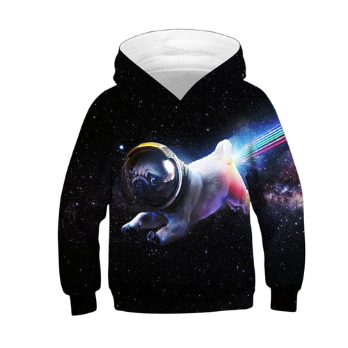 Children Starry Sky Puppy Digital Print Leisure Hoodie