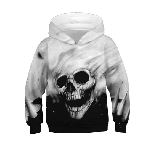 Children's Skull Digital Print Hoodie