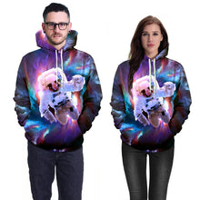 Load image into Gallery viewer, Astronaut Printed Hooded Sweatshirt