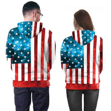 Load image into Gallery viewer, Long Sleeve Flag Print Hoodie