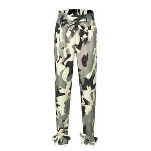 New Loose Casual Pants High Waist Camouflage Camo Pants