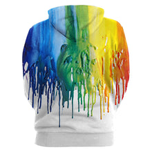 Load image into Gallery viewer, Paint Print Men Hoodie