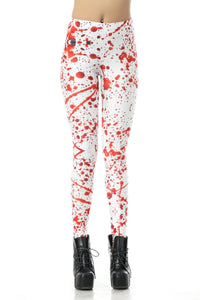 Halloween Blood Splash Print Leggings Halloween Costumes