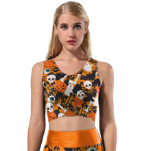 Load image into Gallery viewer, Halloween Printed Tank Top Suits