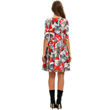 Load image into Gallery viewer, Cute Christmas Cat Printed Casual Xmas Dress
