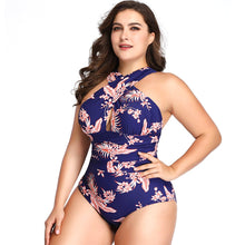 Load image into Gallery viewer, Sexy Cross Large Size One Piece Swimsuit