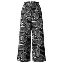 Load image into Gallery viewer, Leaf Print Loose Long Straight Casual Pants