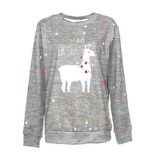 Load image into Gallery viewer, Christmas Cute Alpaca Printed Round Collar Sweatshirt