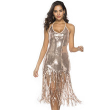 Load image into Gallery viewer, Sexy Sequins Fringed Dress