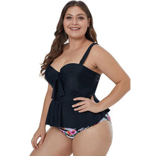 Load image into Gallery viewer, High Waist Plus Size Push Up Tankini Set