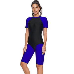 Short Sleeve Zipper Surf One-piece Diving Suit Swimsuit