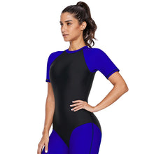 Load image into Gallery viewer, Short Sleeve Zipper Surf One-piece Diving Suit Swimsuit
