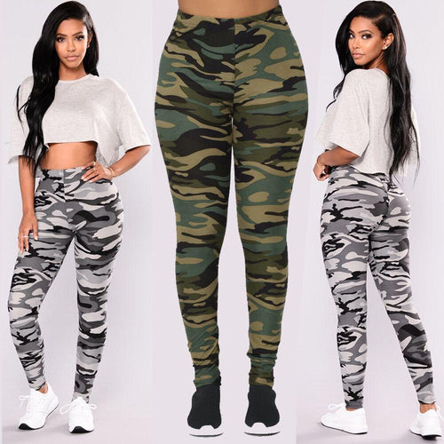 Camouflage Printed Casual Camo Leggings Pants