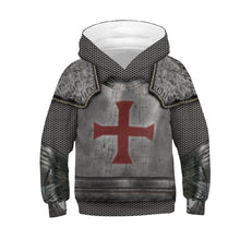Load image into Gallery viewer, Children Armor Print Hooded Sweatshirt