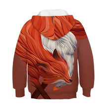Load image into Gallery viewer, Children's Wolf Print Hooded Sweatshirt