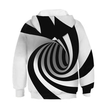 Load image into Gallery viewer, Children's Rotating Stripe Printed Hooded Sweatshirt