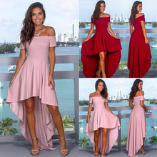 Load image into Gallery viewer, Sexy Halter Off-Shoulder Irregular Dress