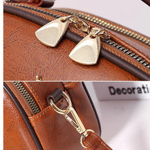 Load image into Gallery viewer, Women PU Leather Shoulder Messenger Bag Pearl Bee Shoulder Tote With Doll
