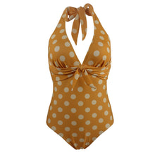 Load image into Gallery viewer, Sexy Polka Dot Slim Lace Up Tie Women One-piece Swimsuit Swimwear Bathing Suit