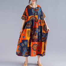 Load image into Gallery viewer, Plus Size Ethnic Cotton Retro Loose Maxi Dress