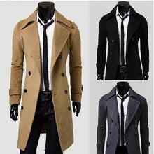 Load image into Gallery viewer, Double Breasted Overcoat with Side Pockets