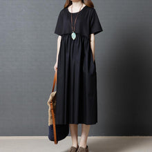 Load image into Gallery viewer, Large Size Cotton and Linen Loose Dress