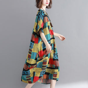 Plus Size Loose Short Sleeve Maxi Dress
