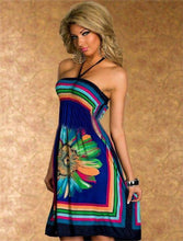 Load image into Gallery viewer, Halter Loose Print Sleeveless Spaghetti  Strapless Summer Dress