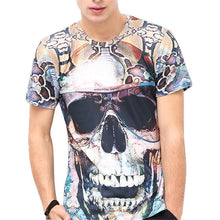 Load image into Gallery viewer, Halloween 3D Skull Floral Print Men's T-Shirt