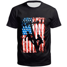 Load image into Gallery viewer, 3D Flag Printed Short Sleeve T-shirt