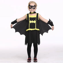 Load image into Gallery viewer, Girls Halloween Batman & Cloak Kids Cosplay Costume