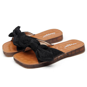 Bow Slippers  Soft Bottom Flat Sandals