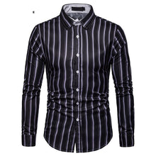 Load image into Gallery viewer, Men's Casual Business Stripe Casual Long Sleeve Shirt