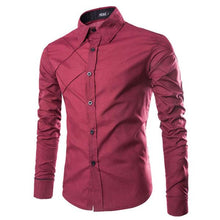 Load image into Gallery viewer, Large Size Casual Long Sleeve Men's Shirt