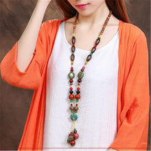 Load image into Gallery viewer, Handmade Long Retro Ethnic Style Necklace