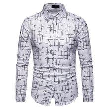 Load image into Gallery viewer, Men's Plaid Casual Long Sleeve Shirt