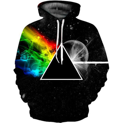 3D Pink Floyd The Dark Side Of The Moon Print Pullover Hoodie Sweatshirt Jacket