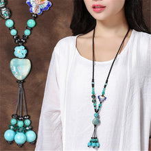 Load image into Gallery viewer, Handmade Long Retro Ethnic Style Necklace  Clothes Accessories