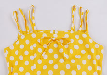 Load image into Gallery viewer, Spaghetti Strap Polka Dot Printed Vintage Dress (S-4XL)