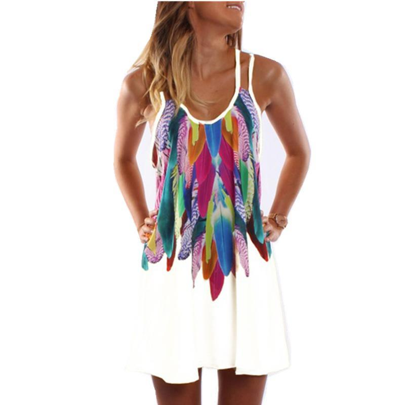 Sexy Printed Plus Size Casual Summer Dress
