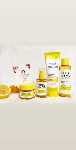 Yuja Complete Set (gel cream,serum,toner.night cream)