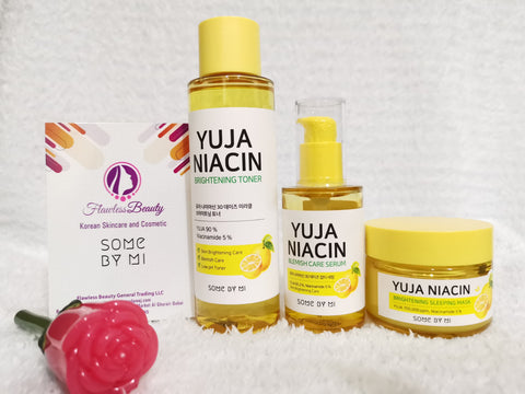 Yuja Niacin Toner, Serum & sleeping mask