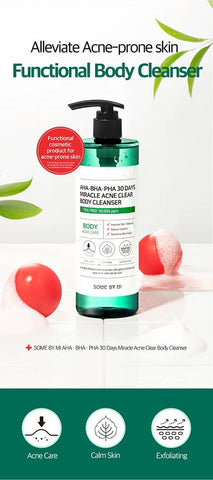 Some by Mi Miracle Acne Clear Body Cleanser from Korea 400ml