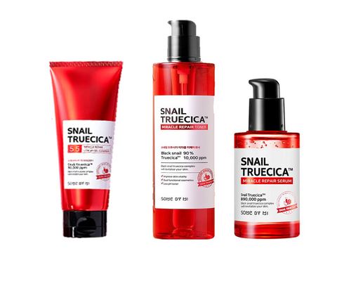 SNAIL TRUECICA MIRACLE REPAIR TRIO SET [Cleanser + Toner + Serum]