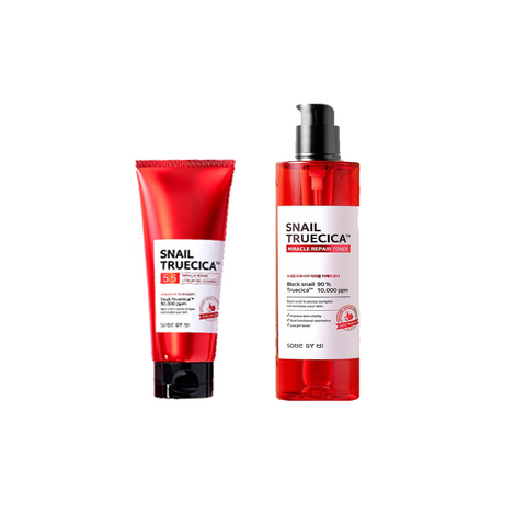 SNAIL TRUECICA MIRACLE REPAIR LOW pH GEL CLEANSER + TONER SET