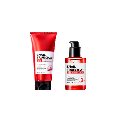 SNAIL TRUECICA MIRACLE REPAIR COMBO SET [Gel Cleanser + Serum]
