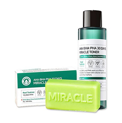 AHA BHA PHA 30 DAYS MIRACLE COMBO SET [Soap + Toner]