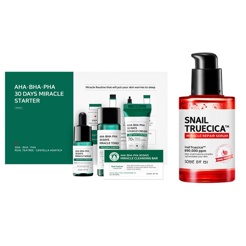 AHA-BHA-PHA 30 DAYS MIRACLE STARTER + SNAIL TRUECICA MIRACLE REPAIR SERUM SET