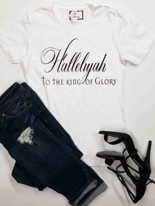 Hallelujah to the king of glory